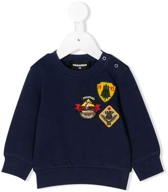 DSQUARED2 badge detail sweatshirt