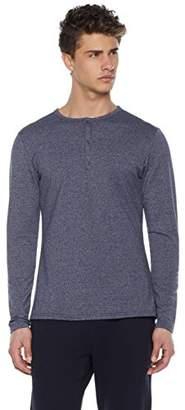 Goodsport Men's Go-Warm Thermal-Knit Long Sleeve Henley Shirt Navy