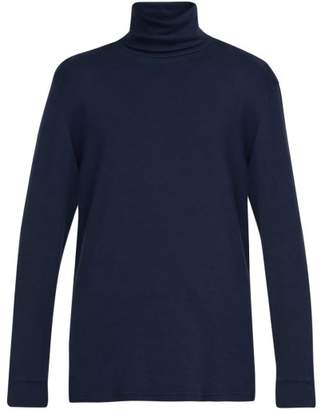 Barena venezia Venezia - Locky Roll Neck Cotton Sweater - Mens - Navy