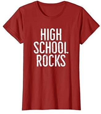 High School Rocks Funny T-Shirt Gift For High School Student