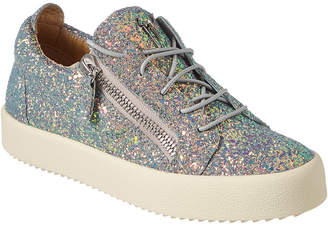 4fc0721a3b392a Giuseppe Zanotti Glitter Leather Low-Top Sneaker