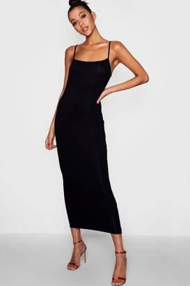boohoo Tall Jersey Square Neck Maxi Dress