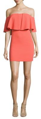 Trina Turk Miradora Off-The-Shoulder Mini Dress $268 thestylecure.com