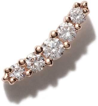 Stone Paris 18kt rose gold Line button earring