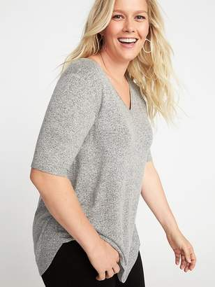 Old Navy Luxe Plus-Size Curved-Hem Tunic