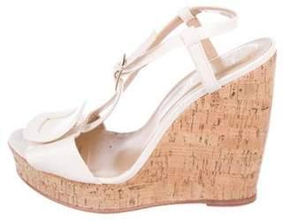 Roger Vivier Leather Wedge Sandals