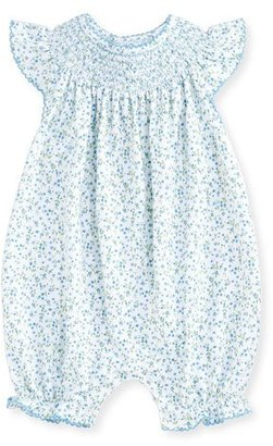 Kissy Kissy Spring Meadow Printed Pima Playsuit, Blue, Size 3-18 Months $42 thestylecure.com