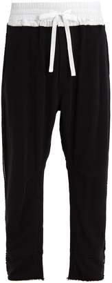 Haider Ackermann Contrast-waist cotton-jersey track pants
