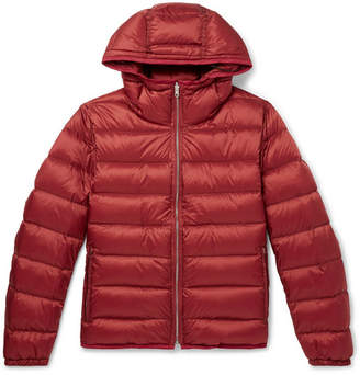 Ten C Slim-Fit Quilted Shell Hooded Down Jacket Liner