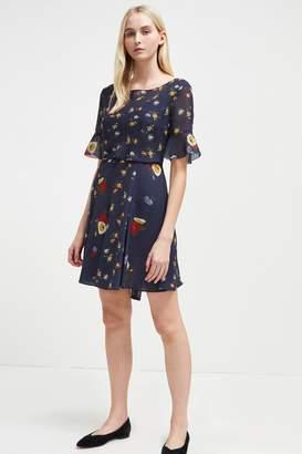 French Connenction Baudet Print Twist Waist Dress