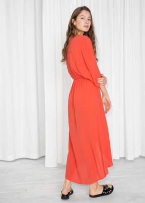 Sheer Midi Kaftan Dress