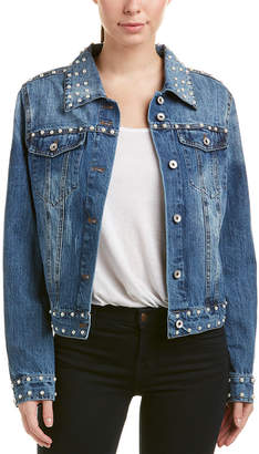 Bagatelle Pearl Embellished Denim Jacket