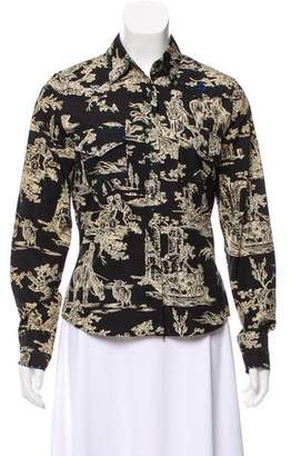 Cacharel Embellished Printed Button-Up