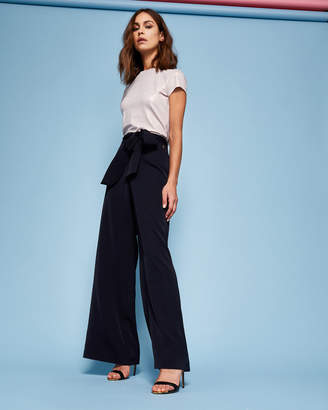 Ted Baker MAURLI Wide leg self-tie trousers