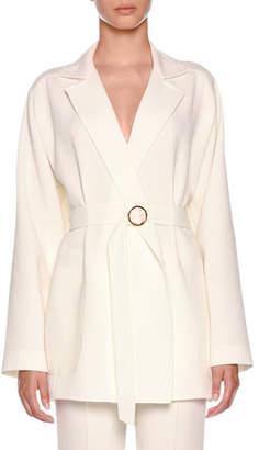 Agnona Double Wool Crepe Timeless Jacket