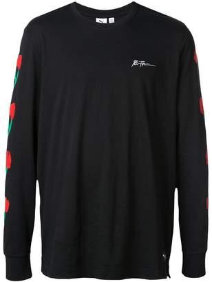 Puma floral sleeve jumper