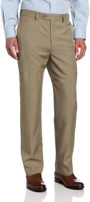 Savane Men's Select Edition Crosshatch Flat Front Dress Pant