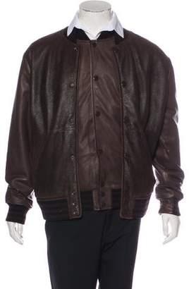 Givenchy Layered Shearling Bomber Jacket