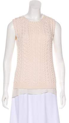 Christian Dior Cable Knit Sleeveless Sweater