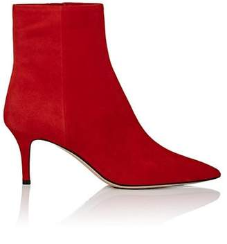 Barneys New York Women's Suede Ankle Boots - Red