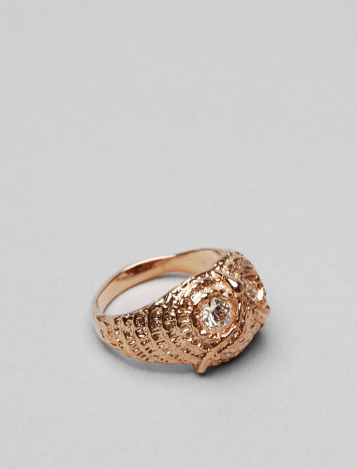 Moss Mills Frances Owl Ring in Rose Gold