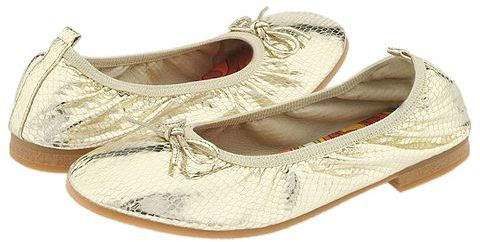 A Line - 6/A0068 (Youth) (Gold Metallic Snake Print Leather)