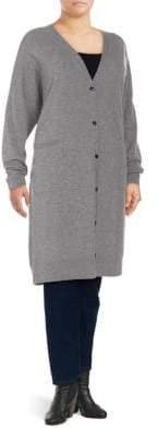 Plus Wool Duster Cardigan