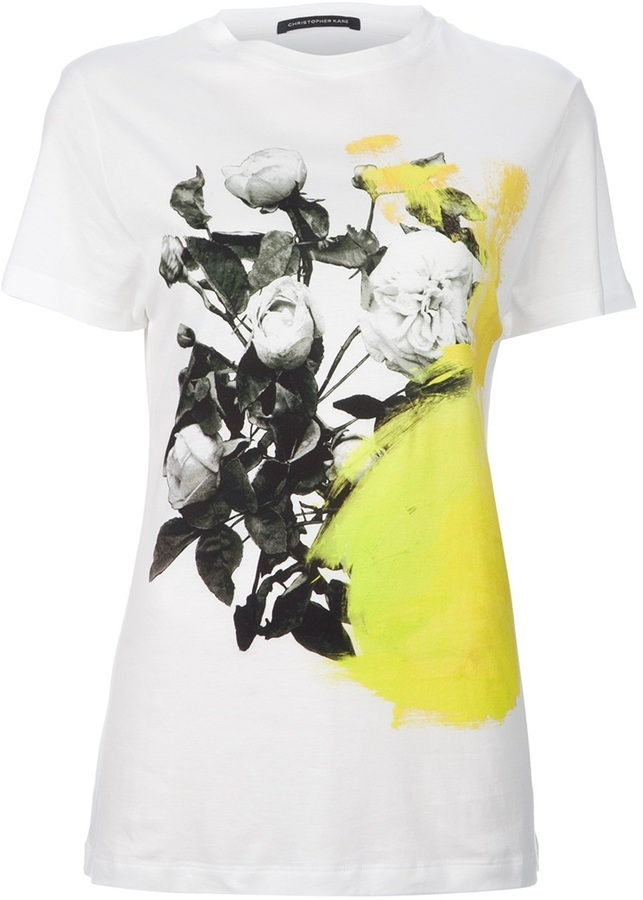 Christopher Kane Floral printed t-shirt