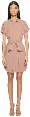 Belstaff Darcie Short Sleeve Tie Waist Crepe Dress Women's Dress