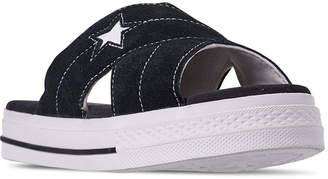 Converse Women One Star Slip Athletic Slide Sandals from Finish Line
