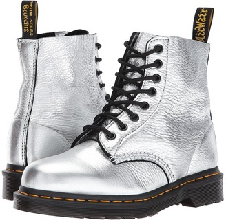 Dr. Martens - Pascal Metallic 8-Eye Boot Women's Boots $135 thestylecure.com