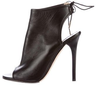 Jimmy Choo Jimmy Choo Leather Open-Toe Booties