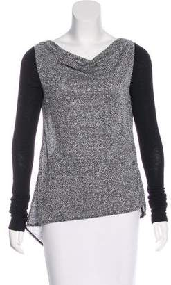 Elizabeth and James Metallic Knit Top