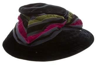 Eric Javits Velvet Bow Hat