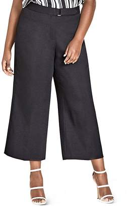 City Chic Plus Elegant Tab-Front Culotte