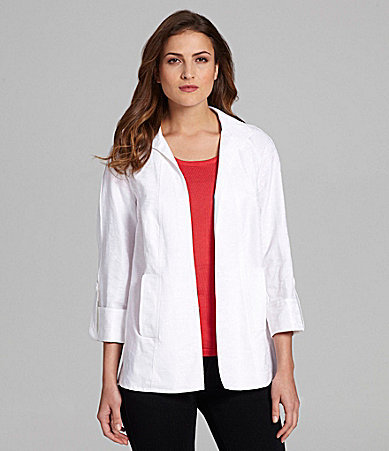 Peter Nygard Roll-Tab Sleeve Jacket