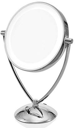 """Ovente 9.5"""" Lighted Tabletop Makeup Mirror"""