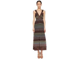 M Missoni Lurex Zigzag Maxi Women's Dress