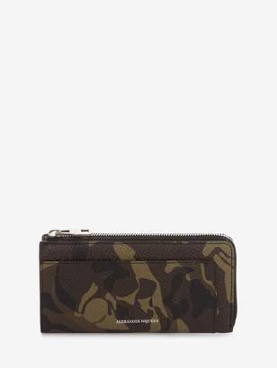 Alexander McQueen Camouflage Zip-Around Continental Wallet