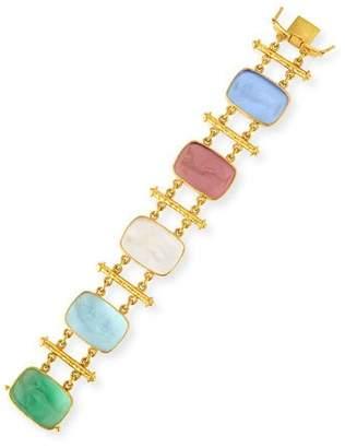 Elizabeth Locke 19k Muse Pastel Venetian Glass Bracelet