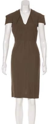 Roland Mouret Short Sleeve Midi Dress Olive Short Sleeve Midi Dress