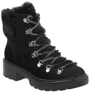 Marc Fisher Capell Genuine Shearling Cuff Lace-Up Boot