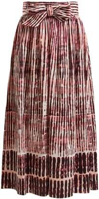 Goat Faro Batik striped stretch-cotton skirt