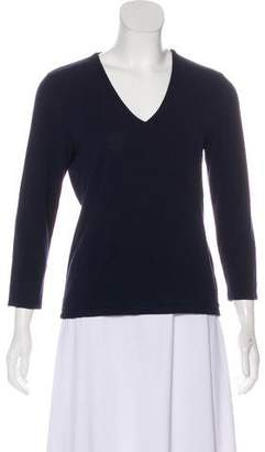Lauren Ralph Lauren V-Neck Long Sleeve Top