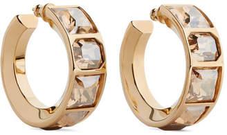 Chloé Tilly Gold-tone Crystal Hoop Earrings