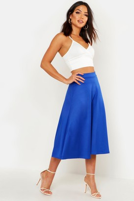 boohoo Plain Full Circle Midi Skirt