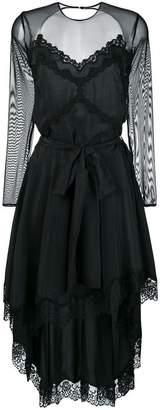 Faith Connexion mesh-panelled dress