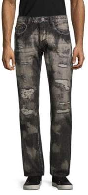 Cult of Individuality Rebel Ripped Straight-Leg Jeans