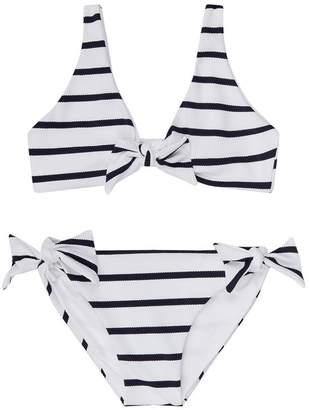 Melissa Odabash Como Marine Striped Bikini Set