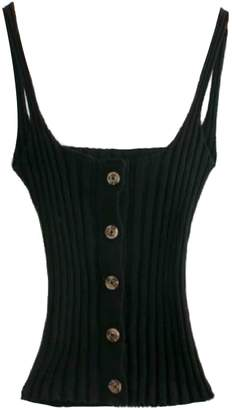 Goodnight Macaroon 'Sandra' Ribbed Knit Button Front Cami Top (3 Colors)
